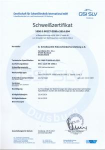 Schweißzertifikat 05-2017